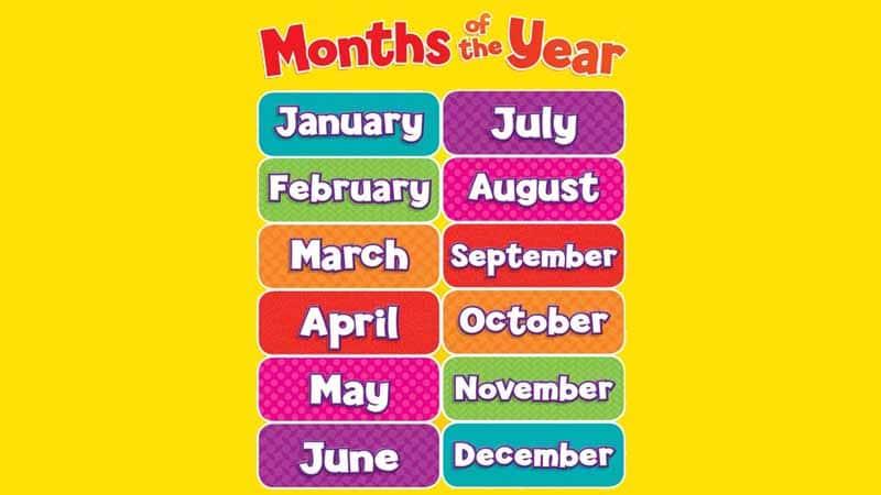 tháng trong tiếng anh